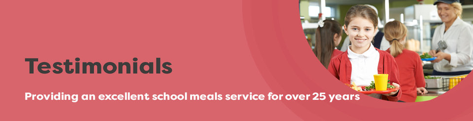 text reads: catering Leeds, a fresh start for school meals