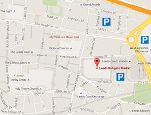 Kirkgate Market Map
