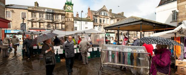 Otley market place