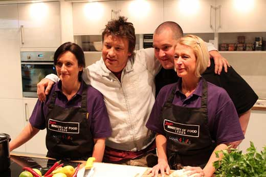 Jamie Oliver at his ministry of food